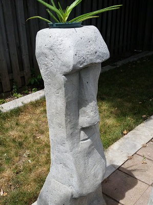 Moai head planter